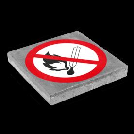 Symbooltegel 300x300mm - Aanduiding roken en open vuur verboden