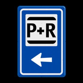 Verkeersbord RVV BW101Sp03 - Informatiepuntverwijzing met aanpasbare pijlrichting