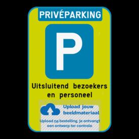 Parkeerbod - FLUO - privéparking met eigen logo