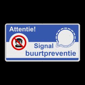 Signal Buurtpreventie - Informatiebord basic