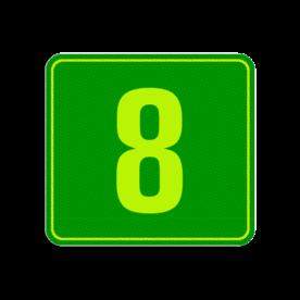 Container sticker Huisnummer Groen | Modern