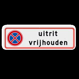 Verkeersbord uitrit vrijlaten RVV E03 + tekst