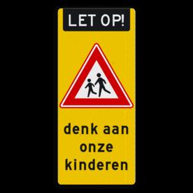 Kliko sticker reflecterend 350x800mm - RVVJ21 denk aan onze kinderen