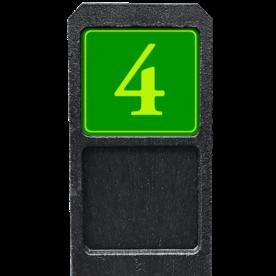 Bermpaal 1250x150x40mm met fluorescerend bordje 119x109mm - Reflecterende opdruk: Bermpaal 1250x150x40mm met fluorescerend bordje 119x109mm met print van tekst / pictogrammen in reflectieklasse 3 (incl. anti-graffiti laminaat). Basis: Groen - Gl-Gr-Fluor (Rand: Fluor geel/groen) Tekstvlak: 4. - Product eigenschappen: Ontwerpcode: 08a4c5Afmetingen: 119x109mmReflecterend: Klasse 3 [ maximaal ]Incl. anti-graffiti laminaat