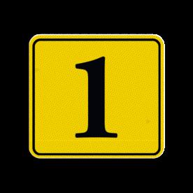 Huisnummerbord Alupanel 119x109mm - Reflecterende opdruk: Huisnummerbord Alupanel 119x109mm met print van tekst / pictogrammen in reflectieklasse 3 (incl. anti-graffiti laminaat). Basis: Geel (Rand: RAL 1023 - geel) kaderrand: Pictogram: Kaderrand Tekstvlak: 1. - Product eigenschappen: Ontwerpcode: 3410f7Afmetingen: 119x109mmReflecterend: Klasse 3 [ maximaal ]Incl. anti-graffiti laminaat
