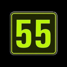 Huisnummerbord Alupanel 119x109 - Reflecterende opdruk: Huisnummerbord Alupanel 119x109 met print van tekst / pictogrammen in reflectieklasse 3 (incl. anti-graffiti laminaat). Basis: Zwart - Gl-Gr-Fluor (Rand: Fluor geel/groen) Tekstvlak: 55. - Product eigenschappen: Ontwerpcode: 62892fAfmetingen: 119x109mmReflecterend: Klasse 3 [ maximaal ]Incl. anti-graffiti laminaat