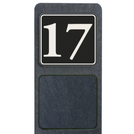 Bermpaal 1250x150x40mm met reflecterend bordje 119x109mm - Reflecterende opdruk: Bermpaal 1250x150x40mm met reflecterend bordje 119x109mm met print van tekst / pictogrammen in reflectieklasse 3 (incl. anti-graffiti laminaat). Basis: Zwart (Rand: RAL 9017 - zwart) Kaderrand: Pictogram: Kaderrand Tekstvlak: 17. - Product eigenschappen: Ontwerpcode: 755c06Afmetingen: 119x109mmReflecterend: Klasse 3 [ maximaal ]Incl. anti-graffiti laminaat