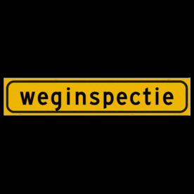 Voertuigmarkering Magnetisch - Voertuigmarkering Magnetisch met print van tekst / pictogrammen in reflectieklasse 3 (incl. anti-graffiti laminaat). Reflecterende opdruk: Basis: Geel-FLUOR met Zwart (Rand: RAL 1023 - geel) Tekstvlak: weginspectie.