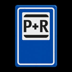 Aluminium informatiebord met een dubbel omgezette rand - Reflecterende opdruk: Aluminium informatiebord met een dubbel omgezette rand met print van tekst / pictogrammen in reflectieklasse 3 (incl. anti-graffiti laminaat). Basis: Blauw (Rand: RAL 5017 - blauw) Picto bovenin: Pictogram: OR051 Park en Ride station /-halte Pijl: Pictogram:. - Product eigenschappen: Ontwerpcode: a0988dAfmetingen: 400x600mmReflecterend: Klasse 3 [ maximaal ]Uitvoering: Dubbel omgezette randIncl. anti-graffiti laminaat