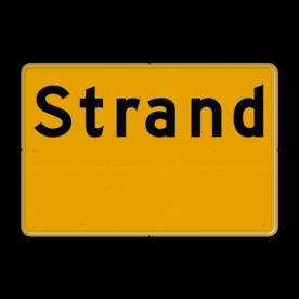 Aluminium informatiebord met een dubbel omgezette rand - Reflecterende opdruk: Aluminium informatiebord met een dubbel omgezette rand met print van tekst / pictogrammen in reflectieklasse 3 (incl. anti-graffiti laminaat). Basis: Geel / Gele rand (Rand: RAL 1023 - geel) Tekstvlak: Strand picto: Pictogram:. - Product eigenschappen: Ontwerpcode: c2c7baAfmetingen: 600x400mmReflecterend: Klasse 3 [ maximaal ]Uitvoering: Dubbel omgezette randIncl. anti-graffiti laminaat