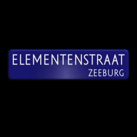 Aluminium straatnaambord RAL5013 met een dubbel omgezette rand - Reflecterende opdruk: Aluminium straatnaambord RAL5013 met een dubbel omgezette rand met print van tekst / pictogrammen in reflectieklasse 1 (incl. anti-graffiti laminaat). Basis: Blauw RAL5013 (Rand: RAL 5017 - blauw) Tekstvlak: ELEMENTENSTRAAT Tekstvlak: ZEEBURG. - Product eigenschappen: Ontwerpcode: cca9dcAfmetingen: 800x200mmReflecterend: Klasse 1 [ minimaal ]Incl. anti-graffiti laminaat