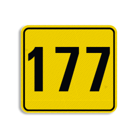 Huisnummerbord Alupanel 119x109mm - Reflecterende opdruk: Huisnummerbord Alupanel 119x109mm met print van tekst / pictogrammen in reflectieklasse 3 (incl. anti-graffiti laminaat). Basis: Geel (Rand: RAL 1023 - geel) kaderrand: Pictogram: Kaderrand Tekstvlak: 177. - Product eigenschappen: Ontwerpcode: d7094bAfmetingen: 119x109mmReflecterend: Klasse 3 [ maximaal ]Incl. anti-graffiti laminaat