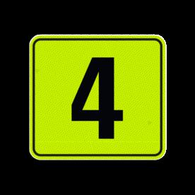 Huisnummerbord Alupanel 119x109 - Reflecterende opdruk: Huisnummerbord Alupanel 119x109 met print van tekst / pictogrammen in reflectieklasse 3 (incl. anti-graffiti laminaat). Basis: Geel-groen-Fluor met zwart (Rand: RAL 9017 - zwart) Tekstvlak: 4. - Product eigenschappen: Ontwerpcode: ef2769Afmetingen: 119x109mmReflecterend: Klasse 3 [ maximaal ]Incl. anti-graffiti laminaat