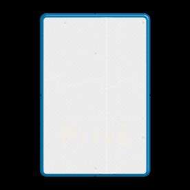 Aluminium informatiebord met een dubbel omgezette rand - Reflecterende opdruk: Aluminium informatiebord met een dubbel omgezette rand met print van tekst / pictogrammen in reflectieklasse 3 (incl. anti-graffiti laminaat). Basis: Wit / blauwe rand (Rand: RAL 5017 - blauw) Parkeerbord met eigen tekst: Pictogram: Verkeersteken Parkeren Tekstvlak: Privé. - Product eigenschappen: Ontwerpcode: f23129Afmetingen: 400x600mmReflecterend: Klasse 3 [ maximaal ]Incl. anti-graffiti laminaat