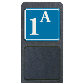 Bermpaal 1250x150x40mm met reflecterend bordje 119x109mm - Reflecterende opdruk: Bermpaal 1250x150x40mm met reflecterend bordje 119x109mm met print van tekst / pictogrammen in reflectieklasse 3 (incl. anti-graffiti laminaat). Basis: Blauw (Rand: RAL 5017 - blauw) Kaderrand: Pictogram: Kaderrand Tekstvlak: 1A. - Product eigenschappen: Ontwerpcode: f2971eAfmetingen: 119x109mmReflecterend: Klasse 3 [ maximaal ]Uitvoering: Dubbelzijdig bedruktIncl. anti-graffiti laminaat