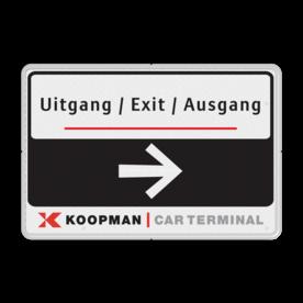 Verkeersbord KOOPMAN 600x400mm - route