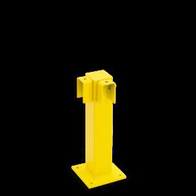 Balustrade Staander 500 hoog, hoekpaal 90º Afscheiding, hek, bescherming, aanrijbeveiliging, aanrijdbeveiliging