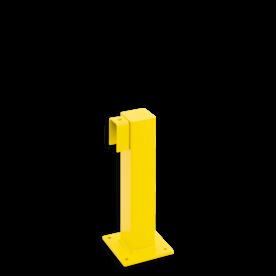 Balustrade Staander 500 hoog, begin-eindpaal hek, afscheiding, veiligheidshek, aanrijbevijliging, aanrijdbeveiliging