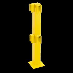 Balustrade Staander 1000 hoog, hoekpaal 90º afscheiding, hek, veiligheidshek, aanrijbeveiliging, aanrijdbeveiliging