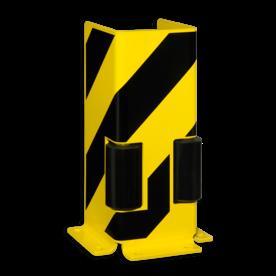 Aanrijbeveiliging -  profiel met geleidingswiel 400x160x6mm Aanrijdbeveiliging, Aanrijdbeugel, Beugel, Aanrijding, Beveiliging, Ram, Rambeugel, Aanrijdbescherming, Vangrail