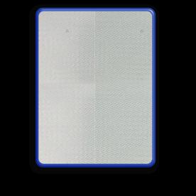 Basisbord omgezette rand - type 4:3 - rechthoek reflecterend blank, blanco, onbeplakt verkeersbord, onafgewerkt bord, halffabrikaat, zelf beletteren, reclamebord, bordmodel