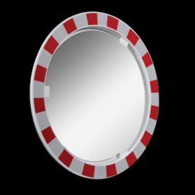Anti-condens verkeersspiegel Ø600mm RVS Jislon, verkeerspiegel, veiligheidspiegel, veiligheidsspiegel, buitenspiegel, anti, condens, beslaan, beslaat