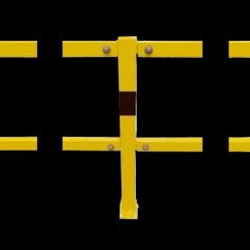 Balustrade Staanders type BASIC, staal Beugel, Aanrijdbeveiliging, Magazijn, Beveiliging, Wanden, Muren, Trappen, Steun, Steuning, Ondersteuning