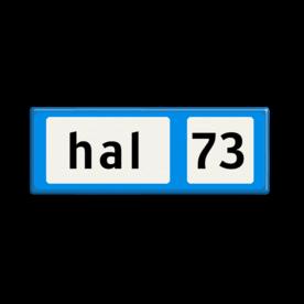 Informatiebord blauw/wit/zwart - lokatie nummer I