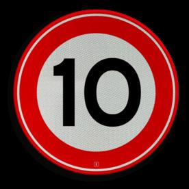 Verkeersbord Maximumsnelheid Verkeersbord RVV A01-010 snelheid, 10 km