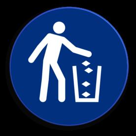 Veiligheidspictogram - Afval verwijderen - M030 NEN7010, veiligheidspictogram