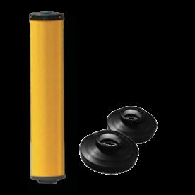 Product vluchtheuvelbaken Vluchtheuvelbaken RVV BB22 ALUMINIUM + dekselset ø48/48 BB22 BM21, vluchtbaken, gele zuil, middenberm, middengeleider, BM18, bm 18
