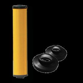 Product vluchtheuvelbaken Vluchtheuvelbaken RVV BB22 ALUMINIUM + dekselset ø76/48 BB22 BM21, vluchtbaken, gele zuil, middenberm, middengeleider, BM18, bm 18
