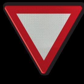 Verkeersbord B1: Voorrang verlenen. Verkeersbord België B01 - Voorrang verlenen B01 B07, Kruising, B6