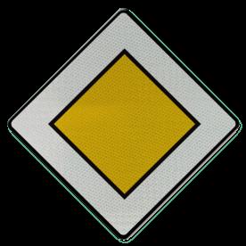 Verkeersbord B09: Voorrangsweg Verkeersbord België B09 - Voorrangsweg B09 voorrangsweg, oranjebord, voorrang, vierkant bord, B1