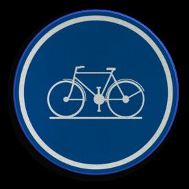Verkeersbord D07: Verplicht fietspad. Verkeersbord België D07 - Verplicht fietspad D07 fietspad, verplicht, fietsen,