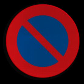 Verkeersbord E01: Parkeerverbod. Verkeersbord België E01 - Parkeerverbod E01 niet parkeren, E1, Parkeerverbod