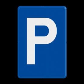Verkeersbord E9a: Parkeren toegelaten. Verkeersbord België E09a - Parkeren toegelaten E09a