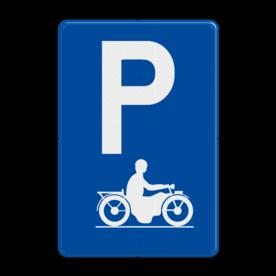 Verkeersbord E9i: Parkeren uitsluitend voor motorfietsen Verkeersbord België E09i - Parkeren uitsluitend voor motorfietsen E09i parkeerborden, motors, motot