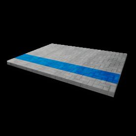 Markering - wegenverf - blauwe lijn per strekkende meter wegmarkering, grondmarkering, vloermarkering, vloer, markering, weg, grond, opladen, oplaad, elektrisch, parkeren, wegenverf, thermoplast, groen, blauw, parkeervak, belijning, symbool, pictogram, markeer, terrein, vloer, parkeergarage, garage