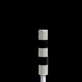 Product Vluchtheuvelbaken Vluchtheuvelbaken RVV BB21 ALUMINIUM + dekselset BB21 BM21, vluchtbaken, gele zuil, middenberm, middengeleider, BM18, BB22, wegversmalling