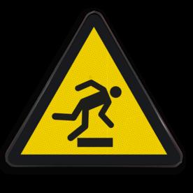 Product Gevaar voor struikelen Pictogram W007 - Gevaar voor struikelen W007 Struikel, vallen, drempel, obstakel, struikelgevaar, hoogteverschil, hoogte, Opstapje