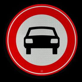 Verkeersbord Gesloten voor voertuigen op meer dan twee wielen Verkeersbord RVV C06 - Gesloten voor voertuigen C06 verbodsbord, verboden voor auto's, geen auto's, verboden, c6
