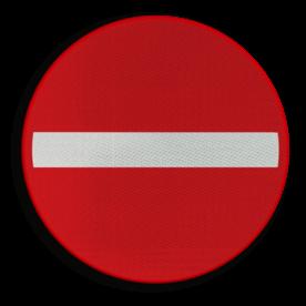 Verkeersbord C1: Verboden richting voor ieder bestuurder. Verkeersbord België C01 - Verboden richting voor ieder bestuurder. C01 verbodsbord, verboden voor auto's, geen auto's, verboden, C02, eenrichtingsweg,