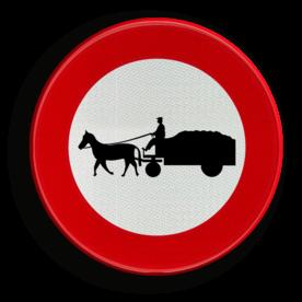 Verkeersbord C13: Verboden toegang voor bestuurders van gespannen Verkeersbord België C13 - Verboden toegang voor bestuurders van gespannen C13 verbodsbord, gespannen, paarden