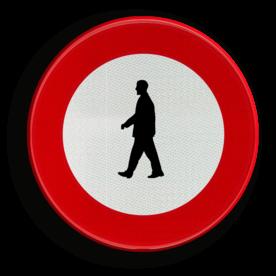 Verkeersbord C19: Verboden toegang voor voetgangers Verkeersbord België C19 - Verboden toegang voor voetgangers C19 verbodsbord, verboden voor voetgangers, c16