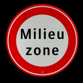 Verkeersbord Gesloten voor vrachtauto's die niet voldoen aan de eisen, genoemd in artikel 86d Verkeersbord RVV C22a milieuzone - Begin milieuzone C22a milieuzone, geslotenverklaring, verboden in te rijden, geen toegang, verbodsbord, C22