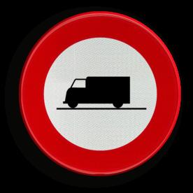 Verkeersbord C23: Verboden toegang voor bestuurders van voertuigen gebruikt voor het vervoer van zaken Verkeersbord België C23 - Verboden toegang voor bestuurders van voertuigen gebruikt voor het vervoer van zaken C23 verbodsbord, C07, vrachtwagen, vracht, vrachtverkeer