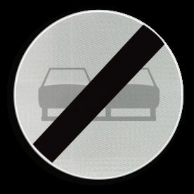 Verkeersbord C37: Einde verbod opgelegd door het verkeersbord C35. Verkeersbord België C37 - Einde verbod opgelegd door het verkeersbord C35. C37 verbodsbord, einde inhaalverbod, inhaalverbod, f02