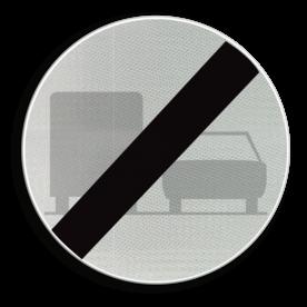 Verkeersbord C41: Einde verbod opgelegd door het verkeersbord C39. Verkeersbord België C41 - Einde verbod opgelegd door het verkeersbord C39. C41 verbodsbord, einde inhaal verbod, f04