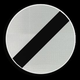 Verkeersbord C46: Einde van alle plaatselijke verbodsbepalingen opgelegd aan de voertuigen in beweging. Verkeersbord België C46 - Einde van alle plaatselijke verbodsbepalingen opgelegd aan de voertuigen in beweging. C46 verbodsbord, F08,